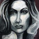 Woman in oil pastels by Samantha Aplin