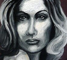 Woman in oil pastels by Samantha Aplin