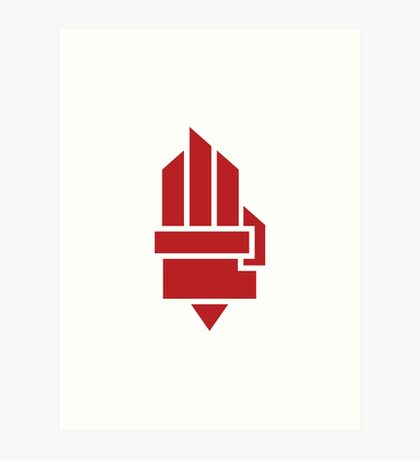 The Hunger Games - Hand (Red Version) Art Print