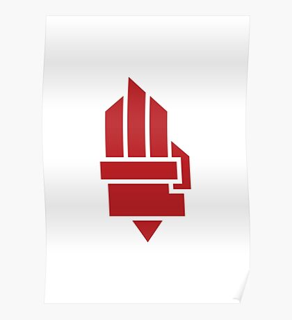 The Hunger Games - Hand (Red Version) Poster