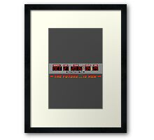 Back to the Future 2 - The Future is Now - Time Circuits 2015 Framed Print