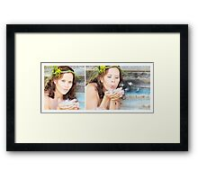 Blow your troubles Away Framed Print