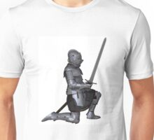 Fifteenth Century Medieval Knight in Kneeling Pose Unisex T-Shirt