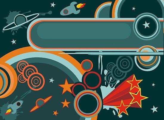 retro cosmos card by Anastasiia Kucherenko