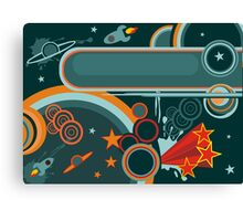 retro cosmos card Canvas Print