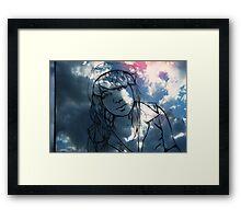 in the sky Framed Print