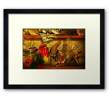 In the shelves of my cluttered mind Framed Print