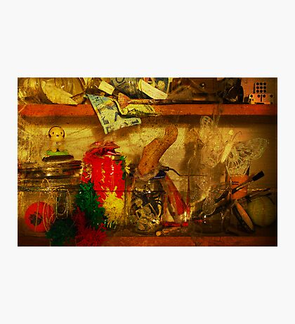 In the shelves of my cluttered mind Photographic Print