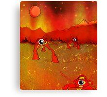 Walking tripods on Mars Canvas Print