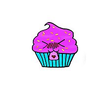 Chibi Little Cupcake Photographic Print