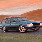 Blue Holden VH Commodore Wagon by John Jovic