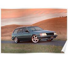 Blue Holden VH Commodore Wagon Poster