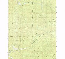 USGS Topo Map Oregon Dolph 279669 1985 24000 by wetdryvac
