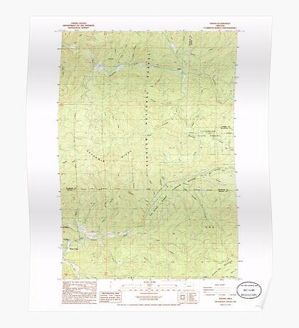 USGS Topo Map Oregon Dolph 279669 1985 24000 Poster