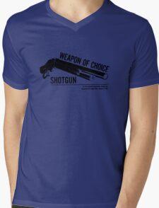 'Weapon of Choice - Shotgun' Mens V-Neck T-Shirt