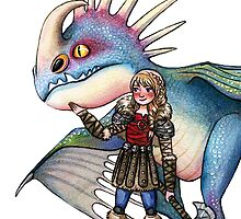 Astrid and Stormfly from HTTYD2 by susannesart