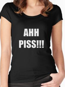 Ahh Piss!!! Women's Fitted Scoop T-Shirt
