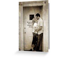 Kiss in the Doorway Greeting Card