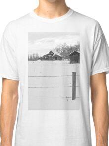 Shacks Winter Scene Classic T-Shirt
