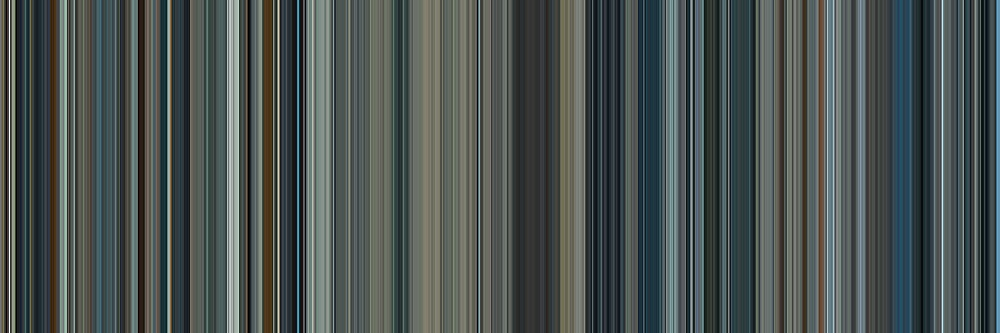 Moviebarcode: Moon (2009) [Simplified Colors] by moviebarcode