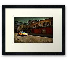 Meat Packing Taxi Framed Print