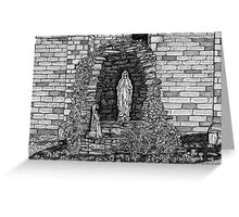 202 - LOURDES GROTTO, ST WILFRID'S CHURCH, BLYTH - DAVE EDWARDS - INK - 1997 Greeting Card