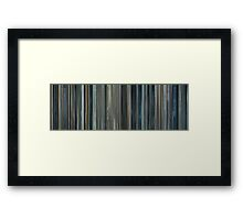 Moviebarcode: Moon (2009) Framed Print
