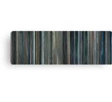 Moviebarcode: Moon (2009) Canvas Print
