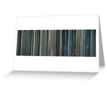 Moviebarcode: Moon (2009) Greeting Card