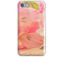 Gladiolas In Pink iPhone Case/Skin