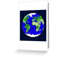 Pixel Planet Greeting Card