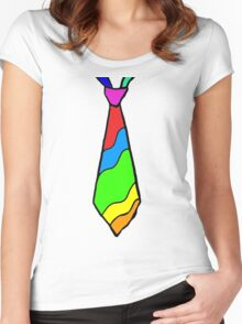 Rainbow Tie Women's Fitted Scoop T-Shirt