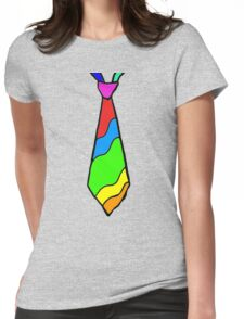 Rainbow Tie Womens Fitted T-Shirt