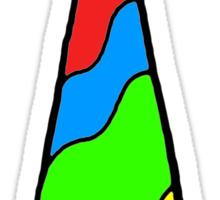Rainbow Tie Sticker