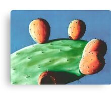 Tunas Naranjas - oil painting of cactus in Mexico Canvas Print