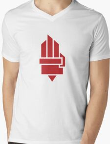 The Hunger Games - Hand (Red Version) Mens V-Neck T-Shirt