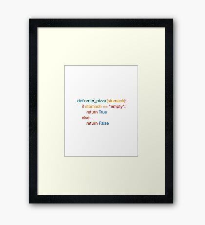 Hungry Coded - Python Edition (Dark) Framed Print