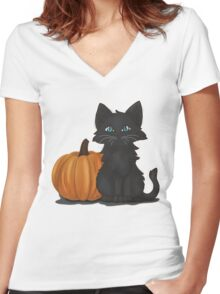 Punkitty Women's Fitted V-Neck T-Shirt