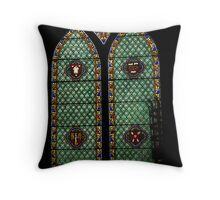 Stained glass window, St Peters Church Throw Pillow