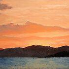 Sunrise on Lake Umbagog, Maine by P. Leslie Aldridge
