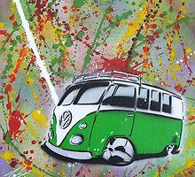 Splitty Splatter 01 Painting by Richard Yeomans