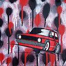 Golf Splatter Painting by Richard Yeomans