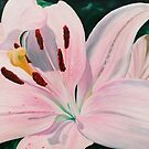 Lily Luster - oil painting of a lily by James  Knowles