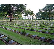 Graves of the fallen BUT never forgotten  Photographic Print