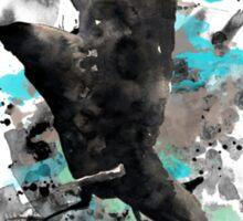 Black Eagle Watercolor - Blue Paint Sticker