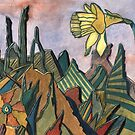 95 - LANDSCAPE WITH DAFFODIL - DAVE EDWARDS - WATERCOLOUR - MAY 2003 by BLYTHART