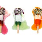 Three Lollies Melting by Remix67