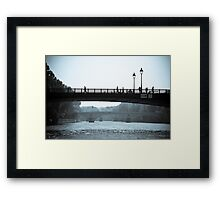 Paris in Motion Framed Print