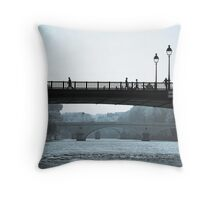 Paris in Motion Throw Pillow