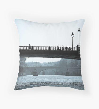 Paris in Motion Throw Pillow